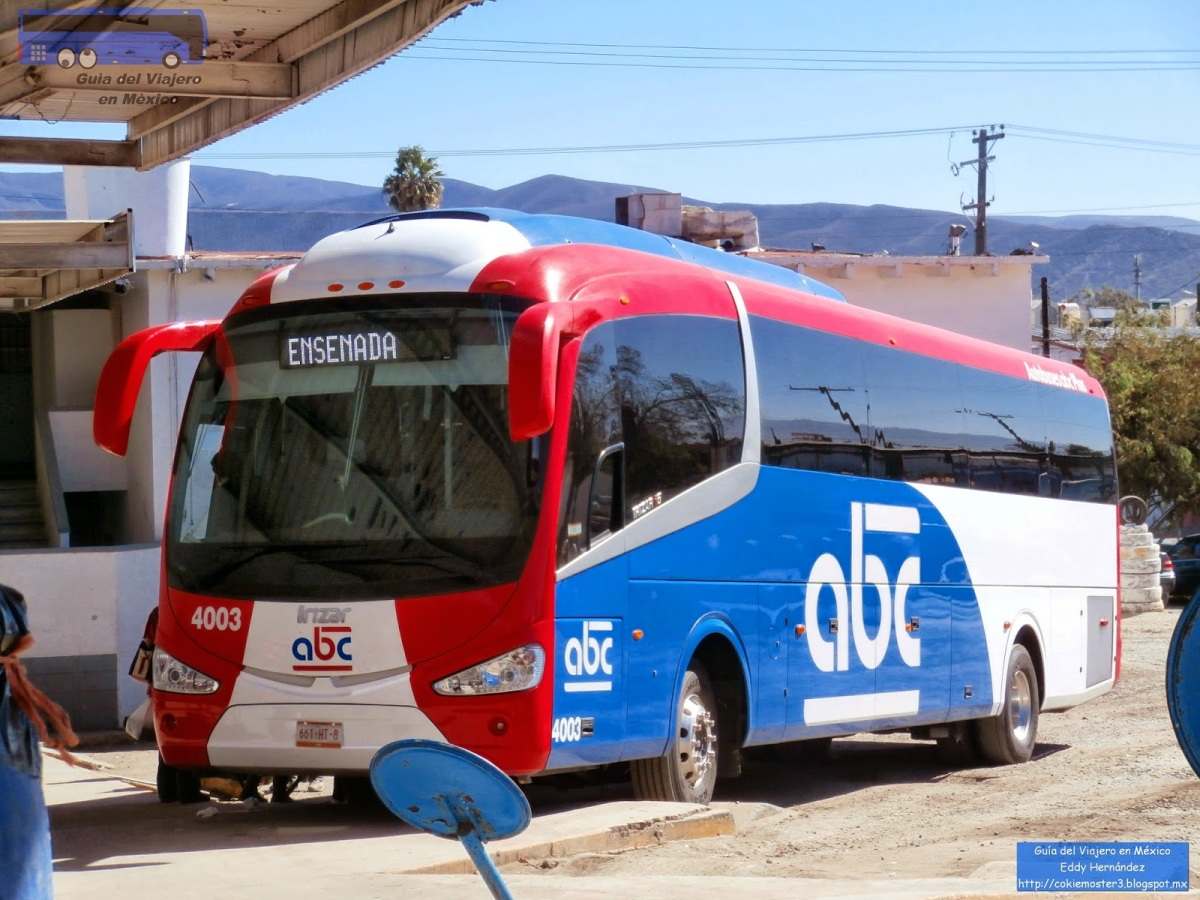 Taking the ABC bus from Tijuana to Ensenada in 2018